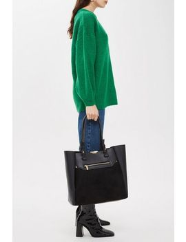 Sasha Slip Pocket Shopper Bag by Topshop