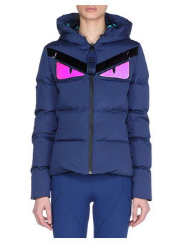 Monster Eye Zip Front Coat by Fendi