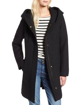 Textured Hooded Coat by Cole Haan Signature