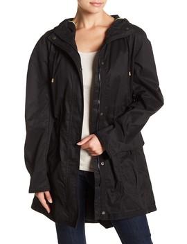 Coated Hooded Jacket by Kensie