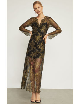 Olivia Metallic Floral Kaftan Dress by Bcbgmaxazria