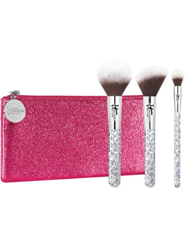 Your Celebration Brush Set! 3 Pc Face And Eye Brush Set by It Brushes For Ulta