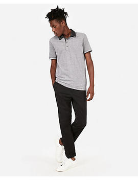 Tipped Oxford Stretch Pique Polo by Express
