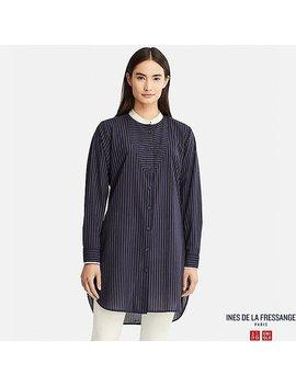 Women Cotton Lawn Long Sleeve Tunic (Ines De La Fressange) by Uniqlo