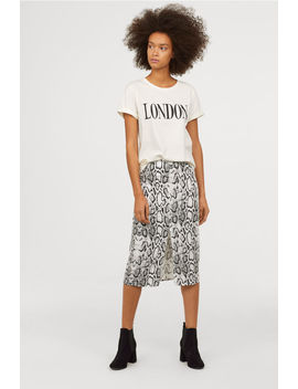 Skirt With A Slit by H&M
