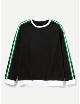 Männer Sweatshirt Mit Streifen Auf Den Seiten by Shein