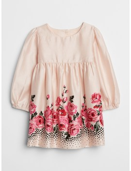 Rose Cinched Waist Dress by Gap