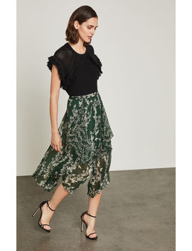Floral Blooms Asymmetrical Skirt by Bcbgmaxazria