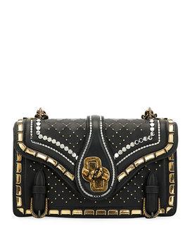 City Knot Embellished Shoulder Bag With Catena Mirror Detail by Bottega Veneta