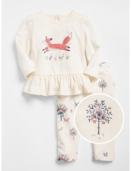 Critter Peplum Set by Gap