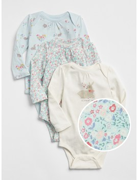 Deer Floral Bodysuit (3 Pack) by Gap