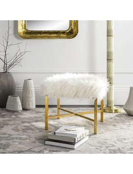 Safavieh Horace White Faux Sheepskin X by Safavieh