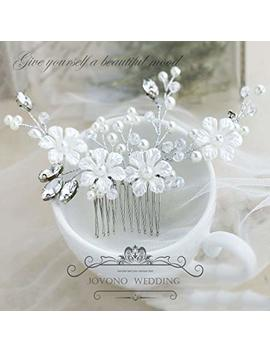 Jovono Wedding Hair Comb Bridal Headpieces With Flower And Beaded For Women And Girls by Jovono