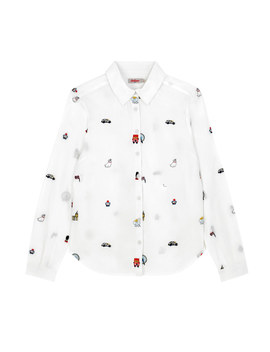 London Map Embroidered Blouse by Cath Kidston
