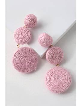 Arnette Pink Woven Earrings by Lulus