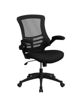 Flash Furniture Mid Back Black Mesh Swivel Task Office Chair With Mesh Padded Seat And Flip Up Arms by Flash Furniture