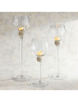 Jeweled Long Stem Tealight Candle Holders by Pier1 Imports