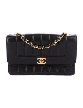 Chanel Vintage Vertical Quilt Flap Bag by Chanel