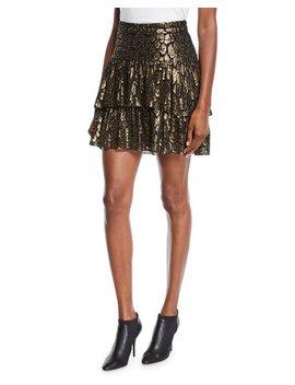 Baxter Tiered Metallic Ruffle Skirt by A.L.C.