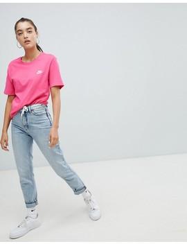 Nike   T Shirt Ras De Cou Avec Logo Virgule   Rose by Nike