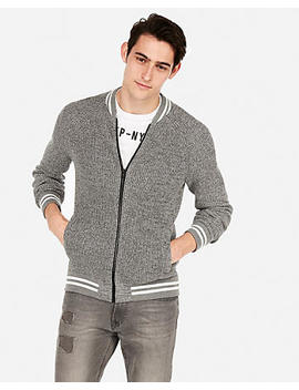 Baseball Full Zip Cardigan by Express