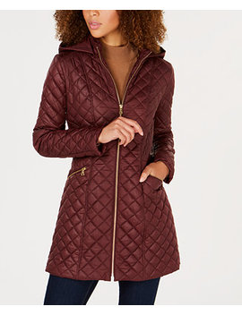Quilted Hooded Coat by Via Spiga