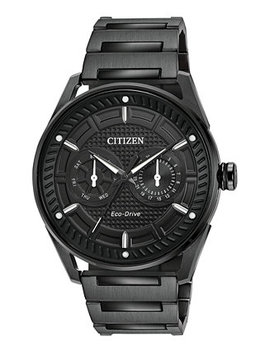 Drive From Citizen Eco Drive Men's Black Stainless Steel Bracelet Watch 42mm by Citizen