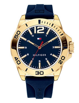 Men's Blue Silicone Strap Watch 45mm by Tommy Hilfiger