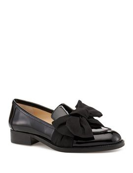 Women's Violet Leather & Calf Hair Loafers by Botkier
