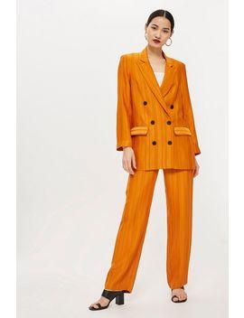 Orange Striped Jacket by Topshop