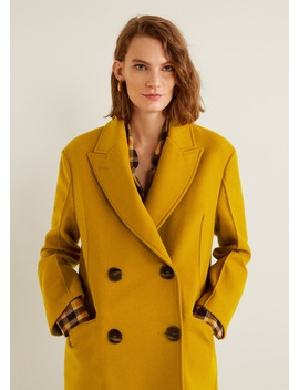 Unstructured Virgin Wool Coat by Mango