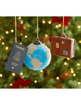 Travel Ornaments   Set Of 3 by Pottery Barn