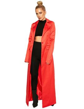 Fire It Up Trench Coat by Naked Wardrobe