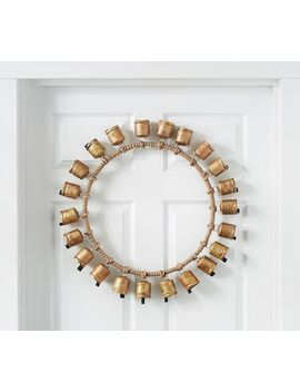 Faux Vintage Bells Wreath by Pottery Barn