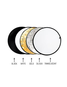 "Limo Studio 32"" 5 In 1 Photography Collapsible Light Disc Reflector, 5 Colors White, Black, Silver, Gold, Translucent, Liwa37 by Limo Studio"