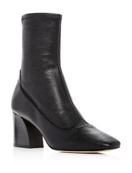 Women's Gerrie Leather High Block Heel Booties by Donald Pliner