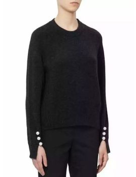 Bnwt 3.1 Phillip Lim Imitation Pearl Cuff Knitted Crew Neck Sweater   Black by 3.1 Phillip Lim