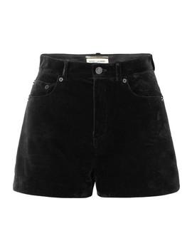 Velvet Shorts by Saint Laurent