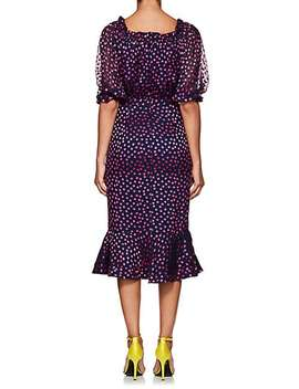 Olivia Silk Blend Midi Dress by Saloni