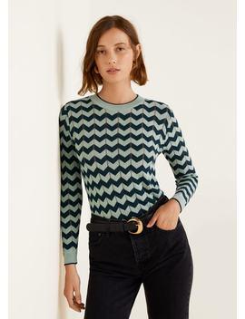 Open Work Zig Zag Sweater by Mango
