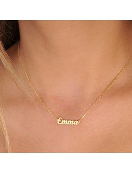 Tiny Gold Name Necklace Personalized Necklace Name Necklace Custom Name Necklaces Name Jewelry Personalized Name Plate Jewelry Bridesmaid by Etsy