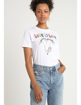 Love Is Love   T Shirt Print by Topshop
