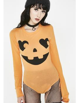 Jack O Heart Margot Bodysuit by Wildfox Couture