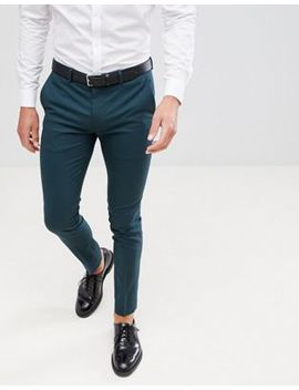 River Island Skinny Fit Smart Pants In Green by River Island
