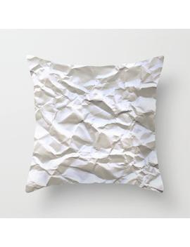 White Trash Throw Pillow by