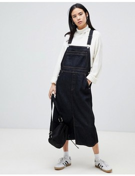 Dr Denim Bib Overall Dress In Raw Wash by Dr Denim