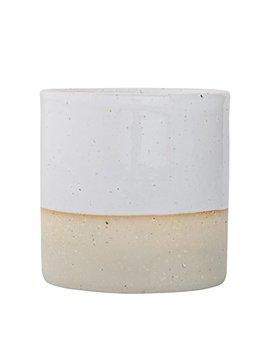 Bloomingville A27104027 Sand Ceramic Barbara Jar, White by Bloomingville