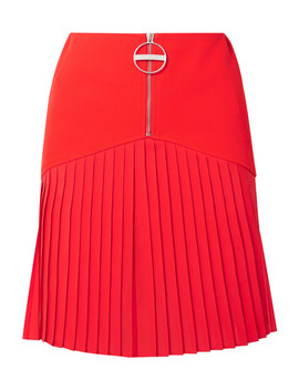 Pleated Silk Blend Chiffon Trimmed Wool Mini Skirt by Givenchy