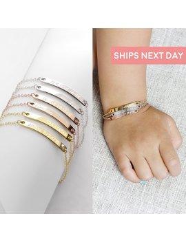 Personalized Bracelet For Kids Jewelry Baby Bracelet For Baby Girl Engraved Bracelet Baby Name Bracelet Flower Girl Bracelet   2 Br * by Etsy