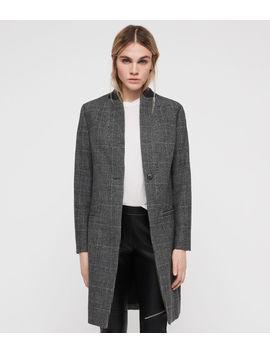 Leni Check Coat by Allsaints